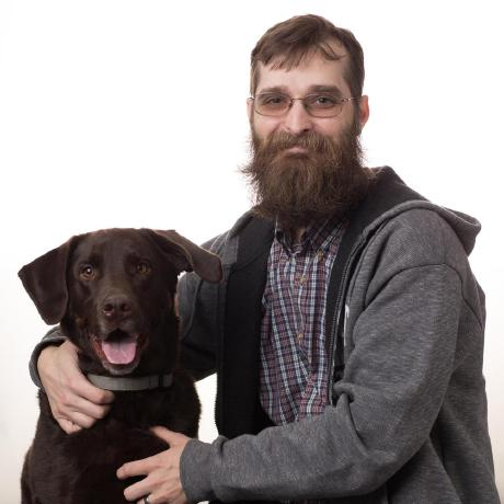 Charles Sprayberry and his Labrador Retriever, Nick